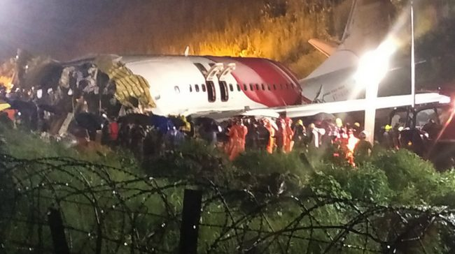 Air India Express FlightWith 190 People On Board Skidded Off A Runway