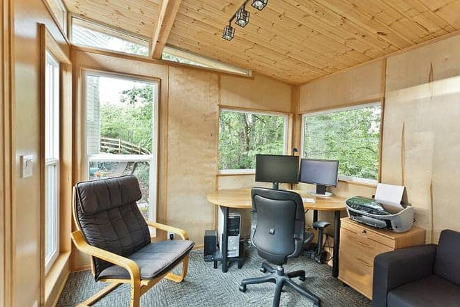 Americans converting backyard sheds into home offices