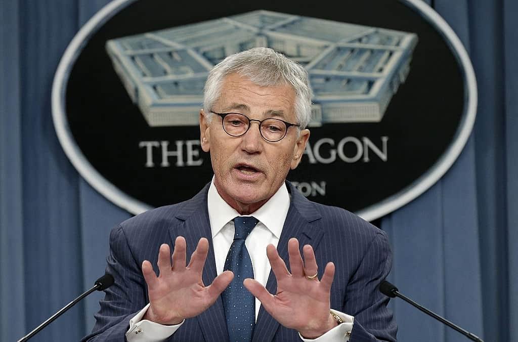 Chuck Hagel says Trump calling troops losers despicable