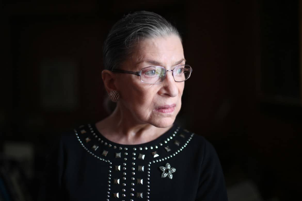 Family, friends and colleagues pay last respect to Justice Ginsburg