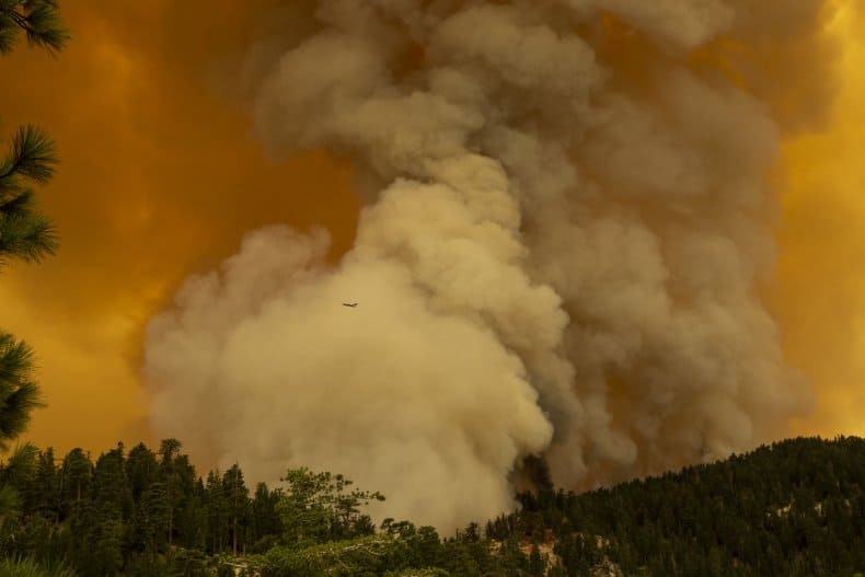 Hazardous Air Quality Due To California Oregon Wildfires Affects