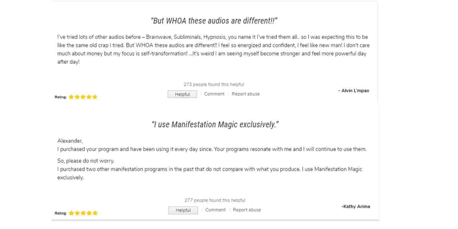 Manifestation Magic customer review