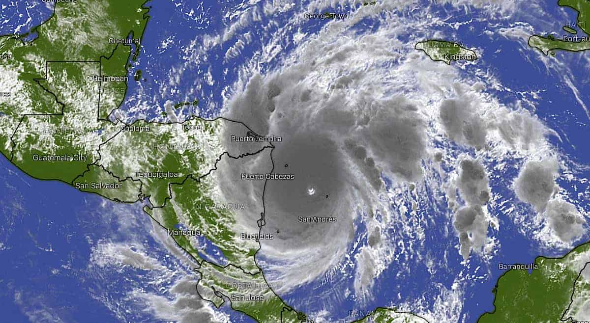 Category 5 Hurricane Iota nears landfall in Central America