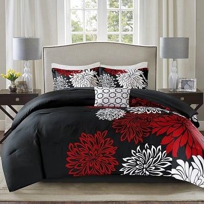 Comfort Spaces Enya Comforter Set- Modern Floral Design