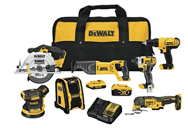 DEWALT 20V MAX Cordless Drill Combo Kit, 7-Tool (DCK771D1M1)