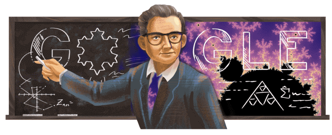 Google Doodle Honors Benoit Mandelbrot On His 96th Birthday