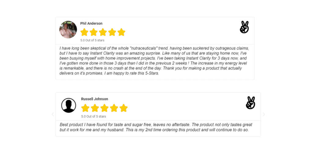 Instant clarity energy drink customer reviews