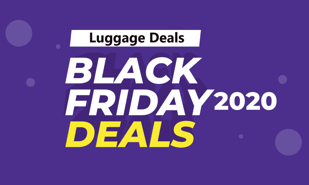 Luggage Black Friday Deals(2020) On Amazon