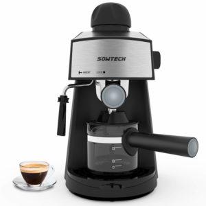 SOWTECH Espresso machine 3.5 bar 4 cup espresso maker cappuccino machine