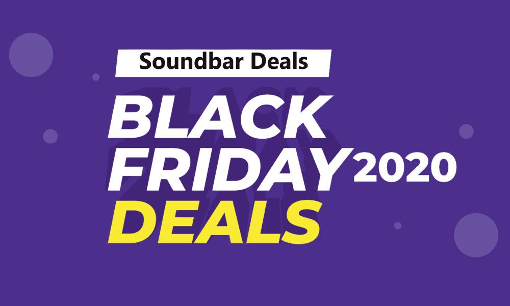Soundbar Black Friday Deals (2020) On Amazon