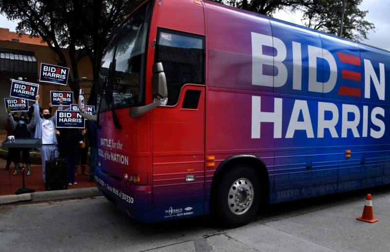 The Bus Of Biden Got Swarmed By Drivers