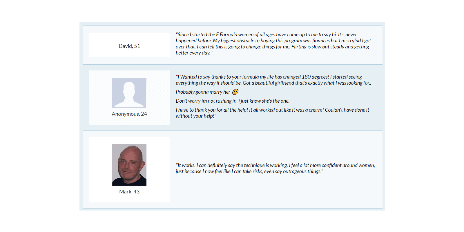 The F Formula customer reviews