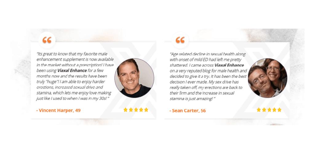 Viaxal Enhance customer reviews