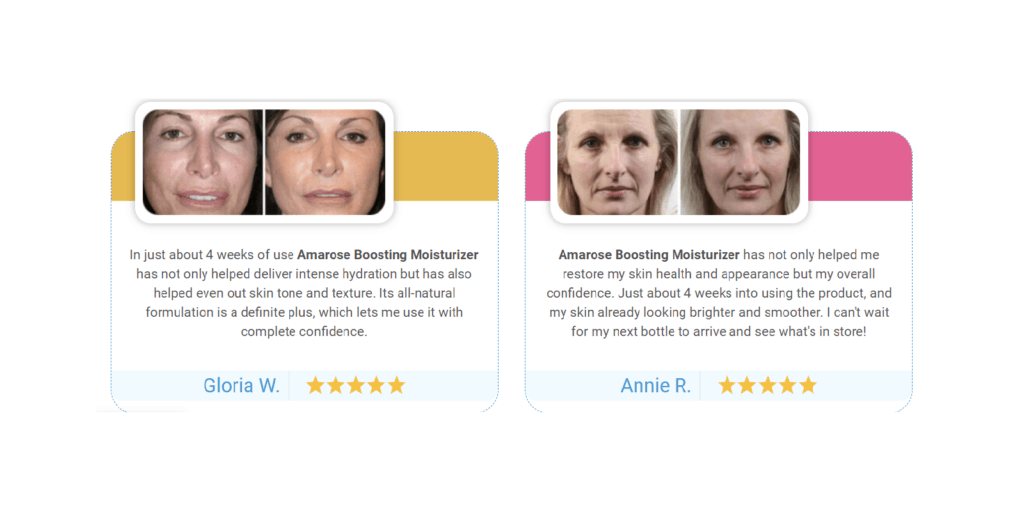 Amarose Boosting Moisturizer customer Reviews