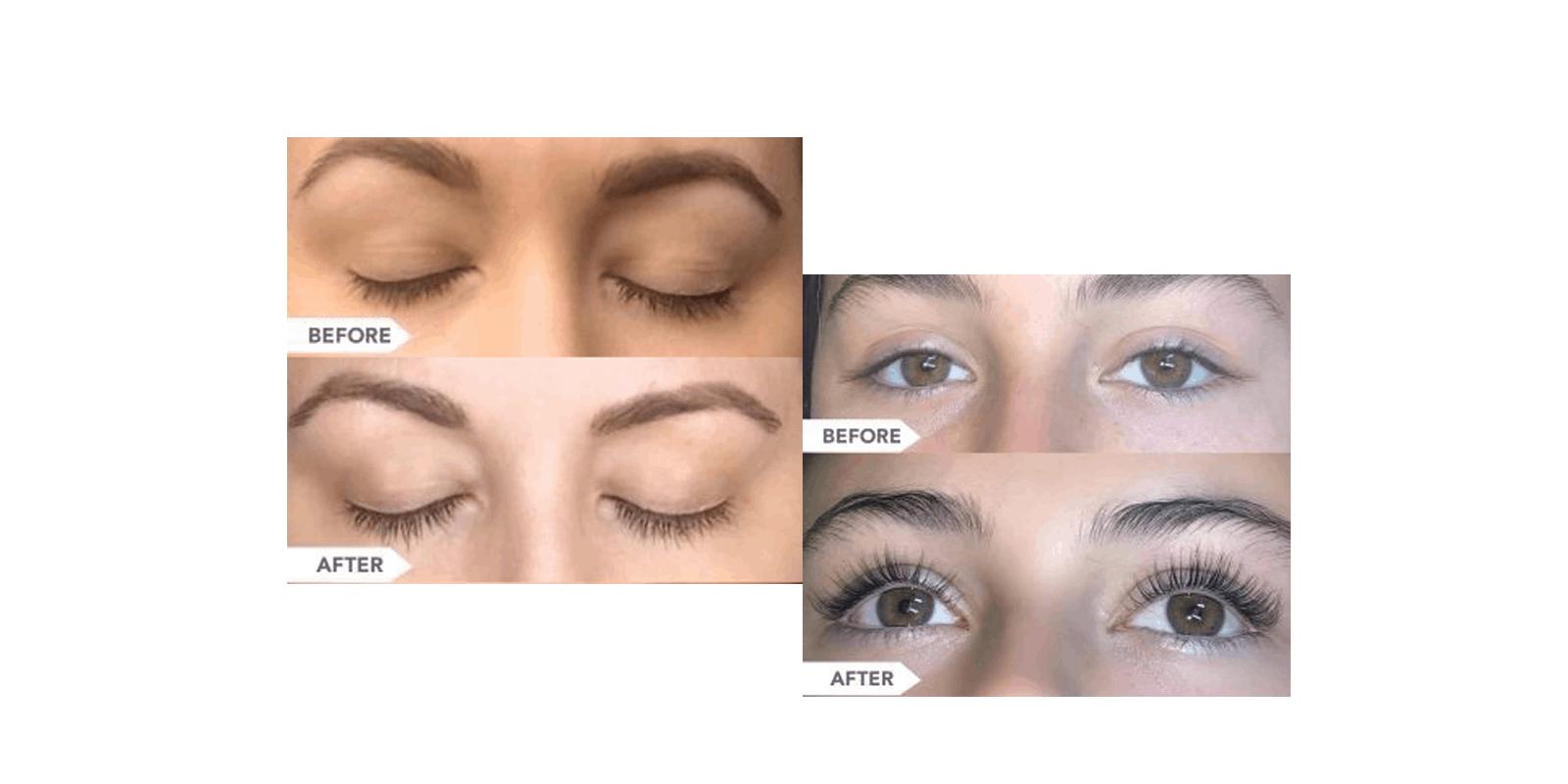 Bioluma Eyelash Serum before and after