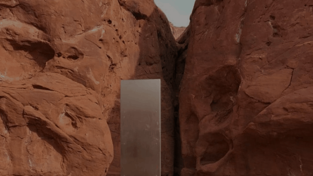 Hiker's Discovery Of Non-magnetic, Riveted, Hollow Mysterious Monolith