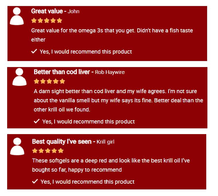 Krill Oil Plus Cutomer Reviews