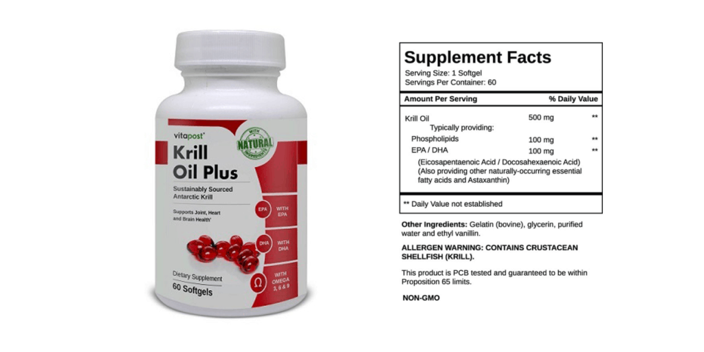 Krill Oil Plus-supplement facts
