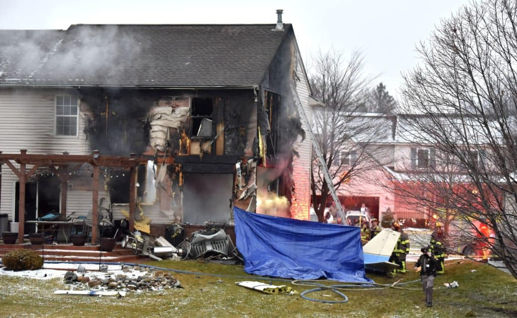 Family Of 5 Escape After Plane Crashes Into Their Home In Michigan