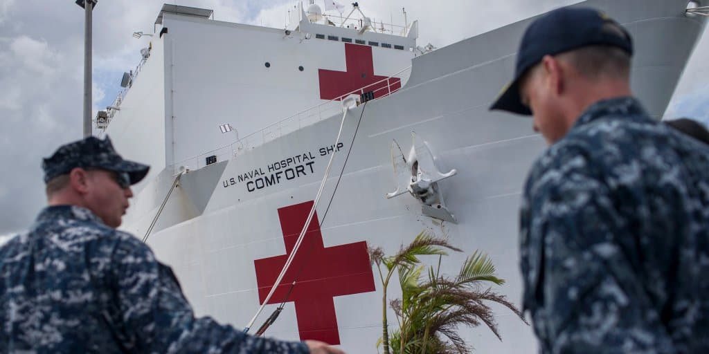 Navy-Hospital-Ship-USNS-Mercy-Cant-Be-Deployed-Despite-The-Surge-Of-COVID-19