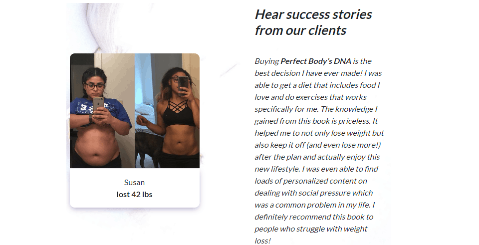Perfect Body's DNA Guide reviews-success stories
