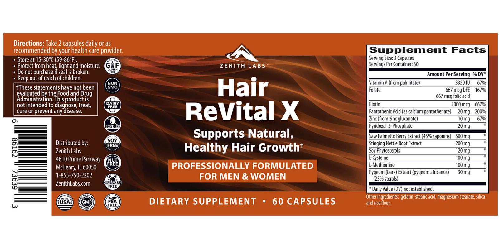 Hair Revital X dosage