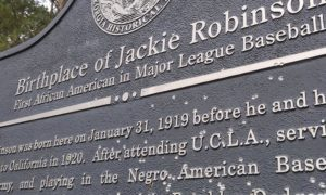 Historical Marker for Jackie Robinson in Georgia found Covered with Bullets