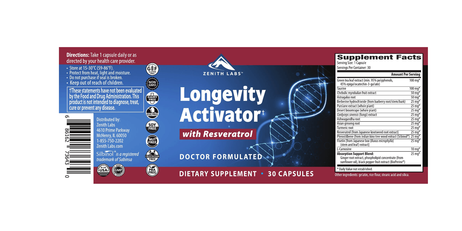 Longevity Activator dosage