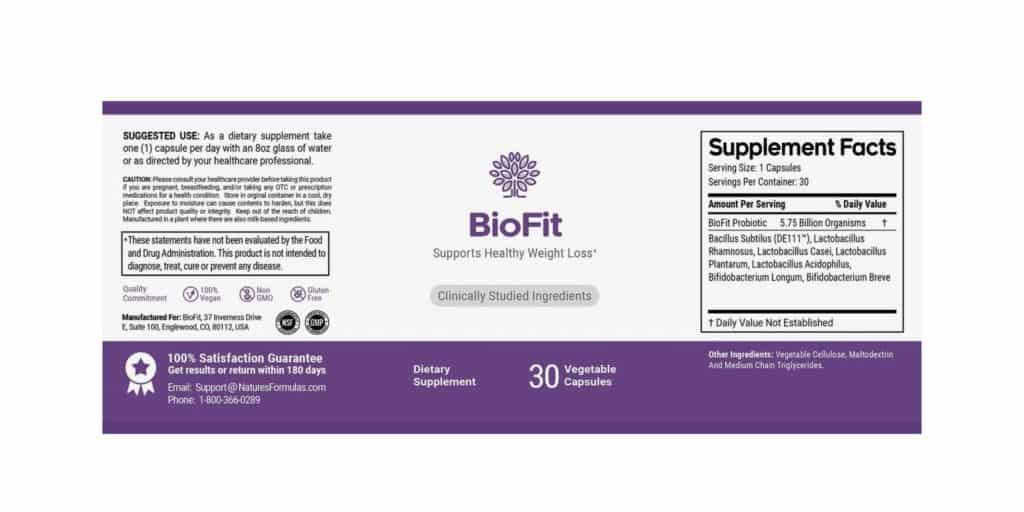 BioFit reviews - Dosage