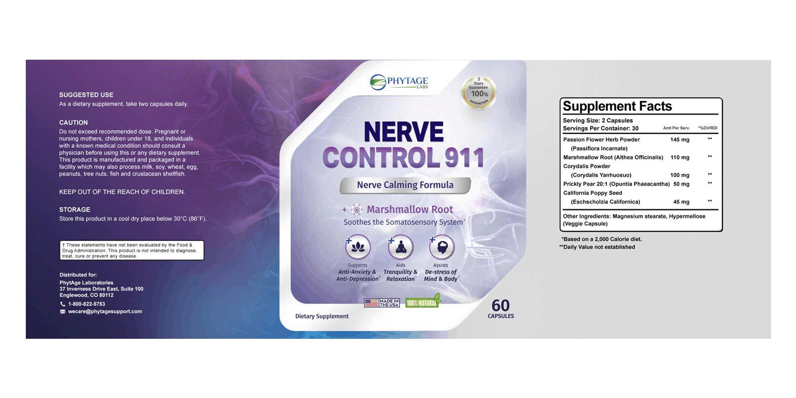 Nerve Control 911 dosage