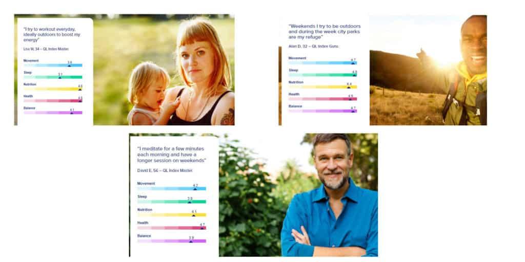 customers' QL Index scores
