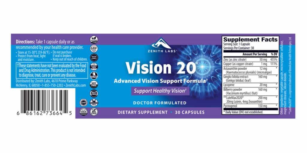 vision 20 dosage