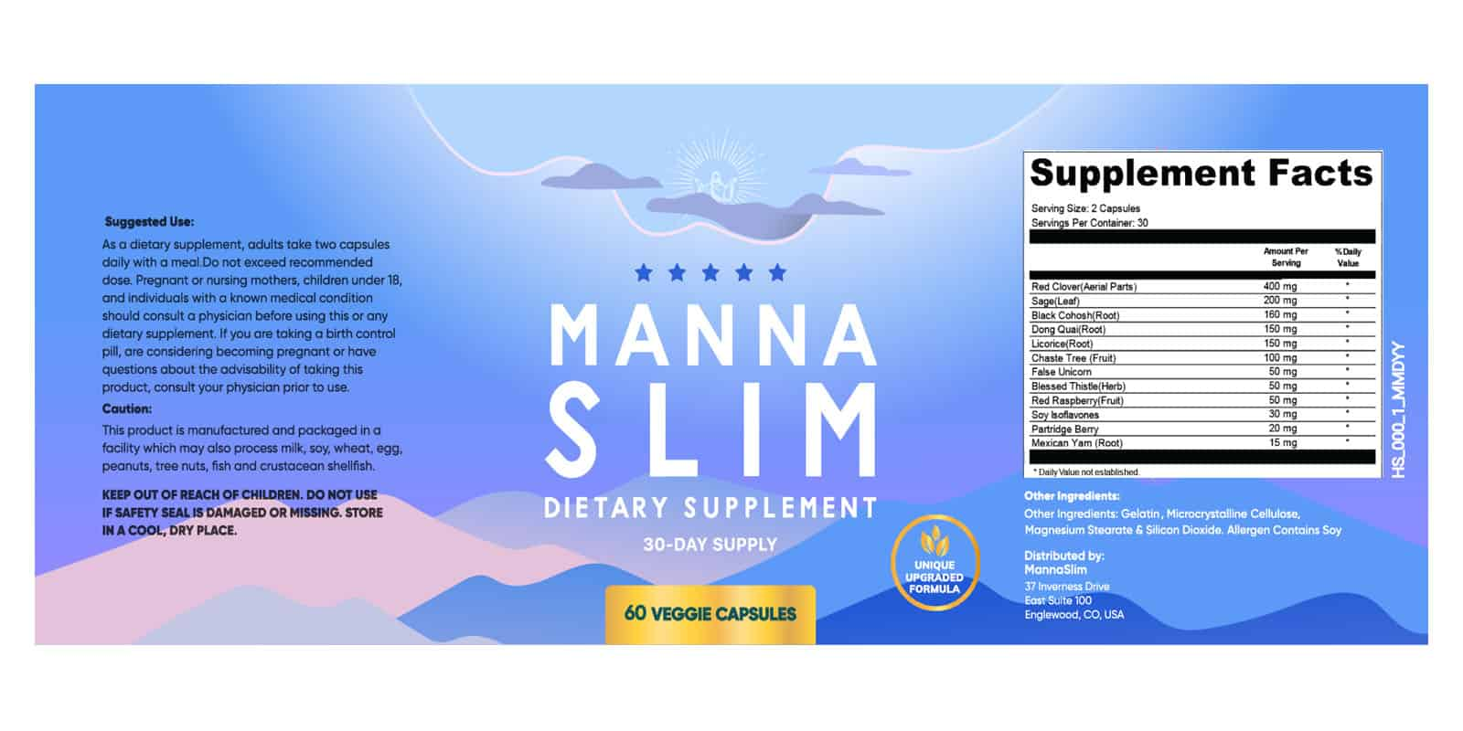 MannaSlim dosage label