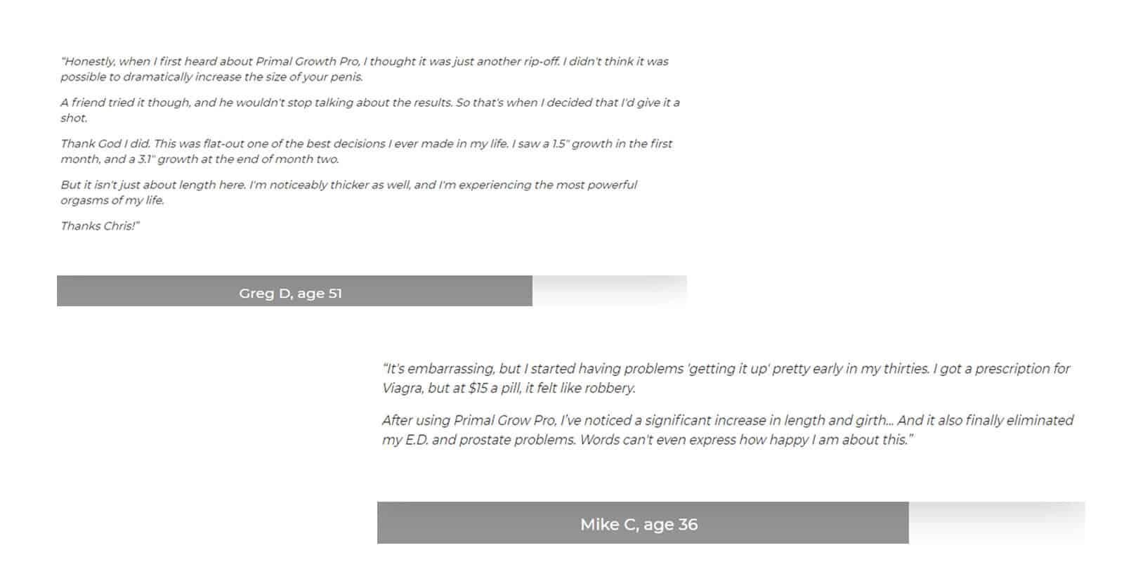 Primal Grow Pro Customer reviews