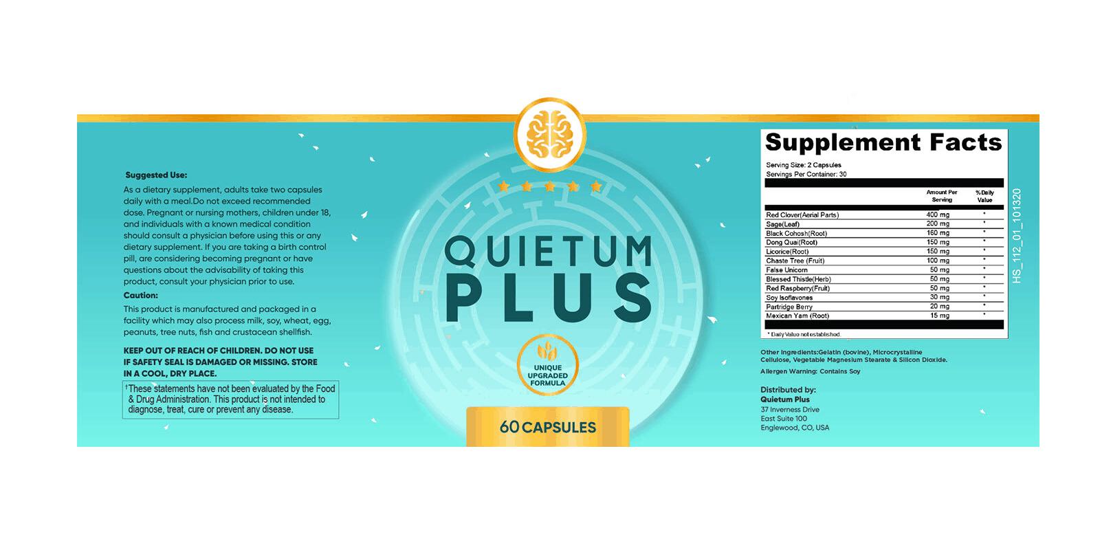 Quietum Plus dosage