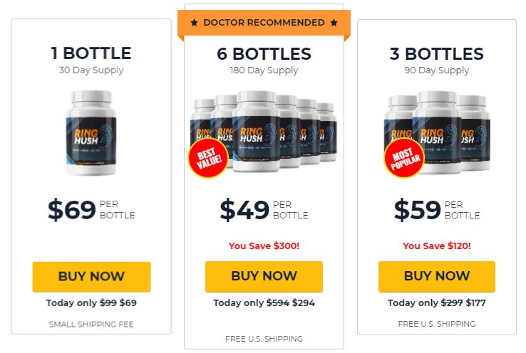 RingHush pricing