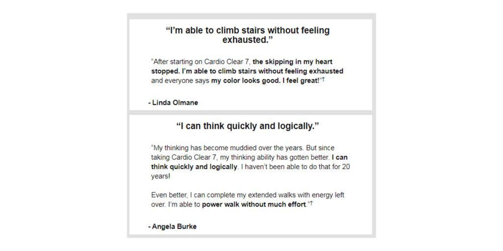 cardio clear 7 customer reviews