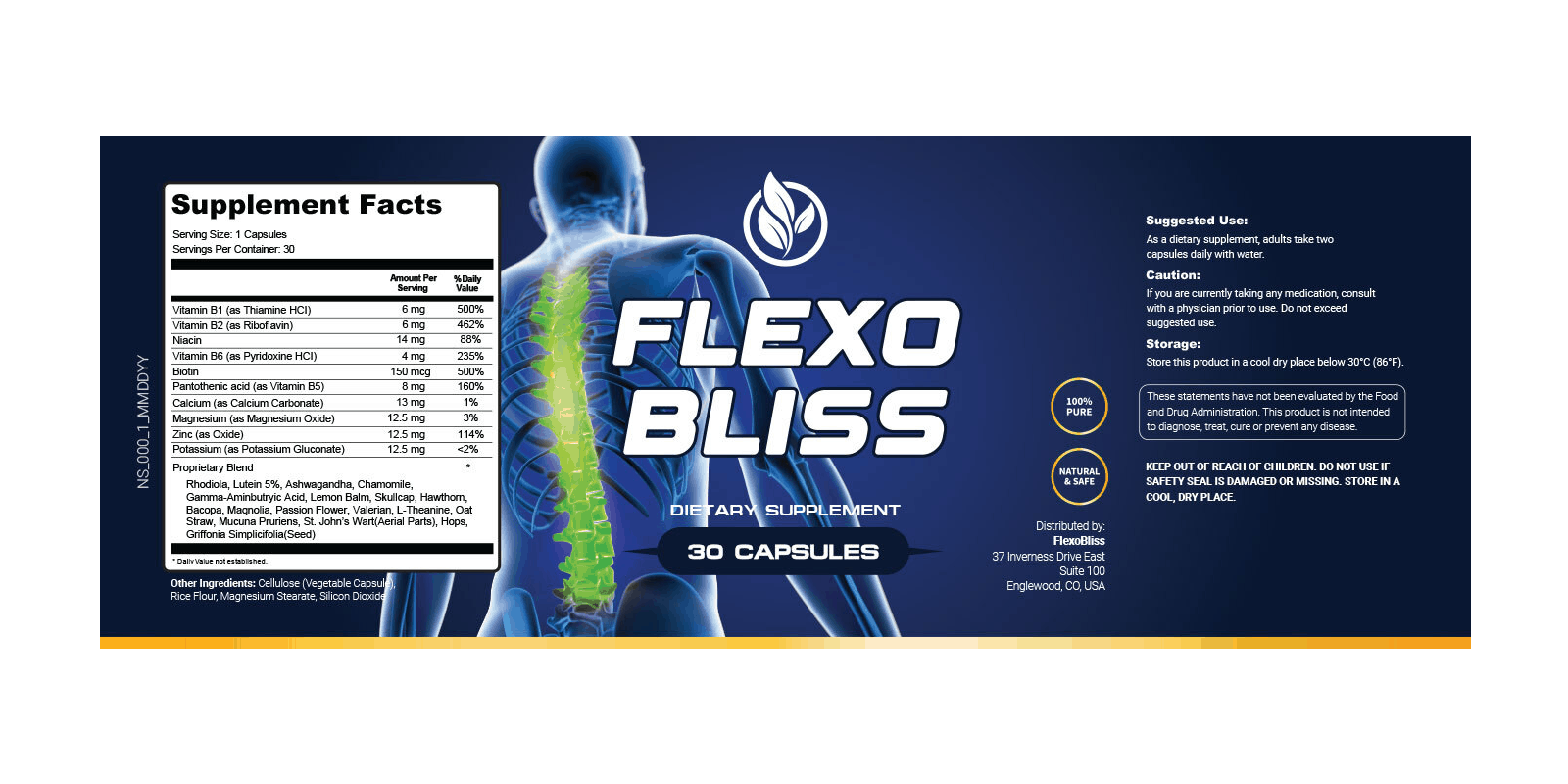 FlexoBliss Dosage
