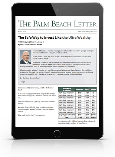 12 monthly Issues of the Palm Beach Letter