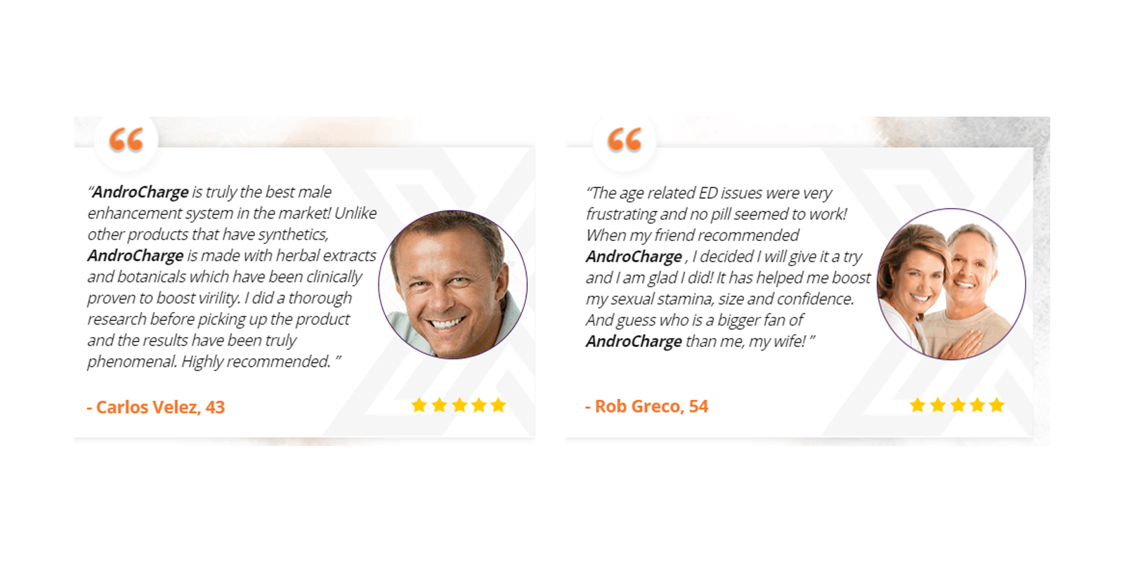 AndroCharge Male Enhancement Customer reviews