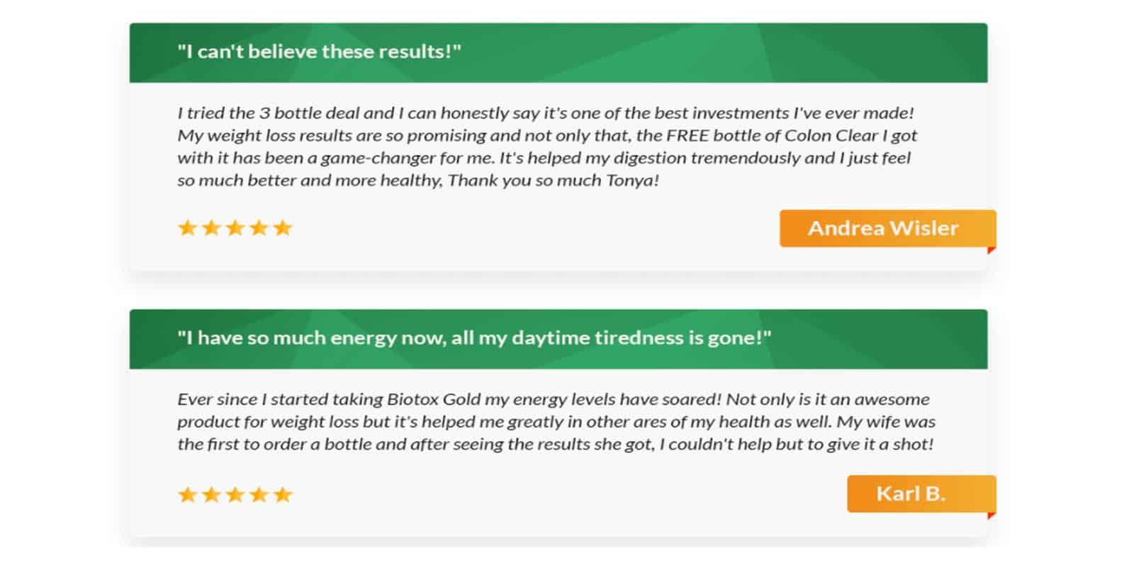 Biotox Gold Customer Reviews