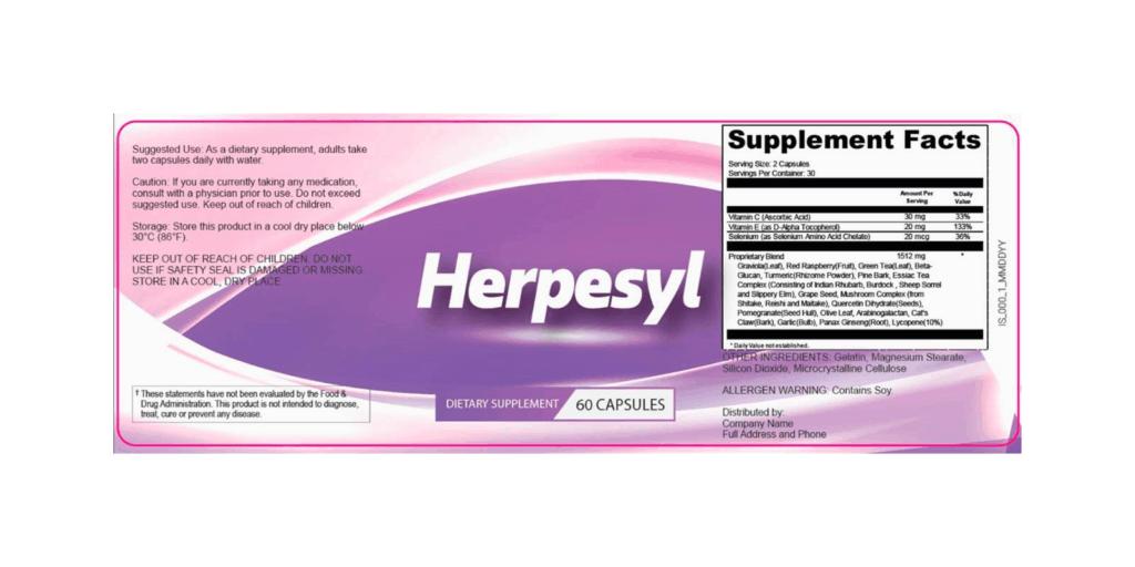Herpesyl dosage