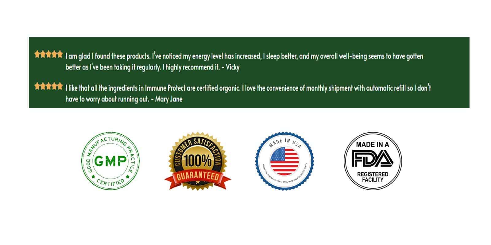 Immune Protect Customer reviews
