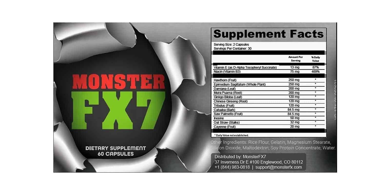MonsterFX7 Dosage