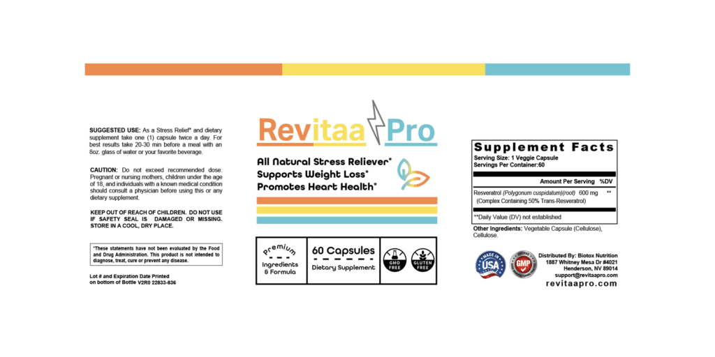 Revitaa Pro dosage information