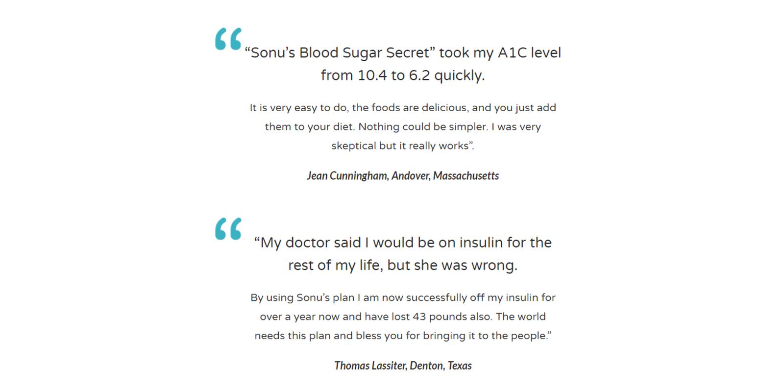 Sonu's Diabetes Secret customer reviews