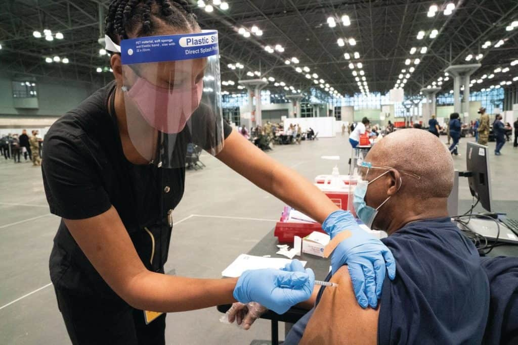 A Mandate Of Vaccine For Government Workers –California And New York City