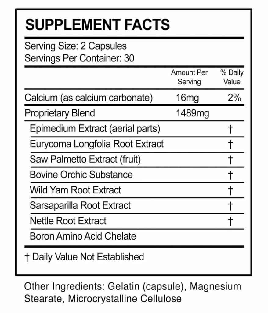 Maasalong Ingredients Nutrition Facts