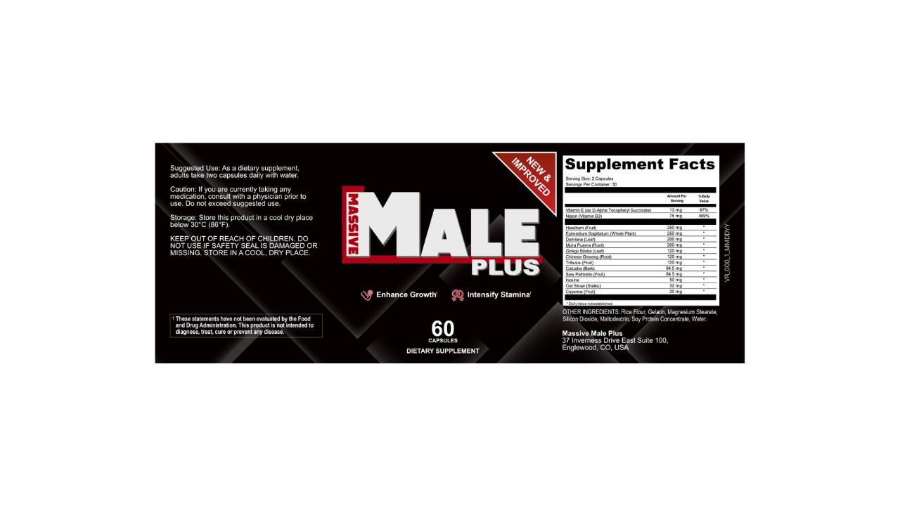 Massive Male Plus dosage