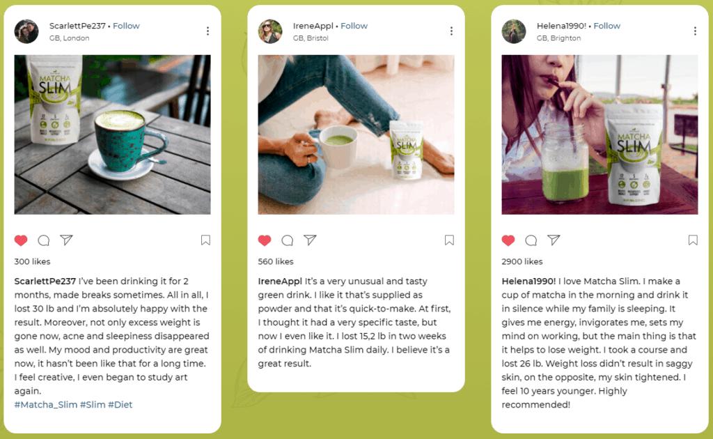 Matcha Slim Customer Reviews